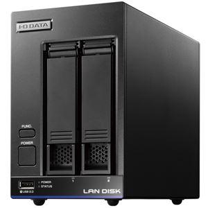 アイ・オー・データ機器 5年間の保守付き 40人程度の中規模オフィス向け2ドライブNAS「LAN DISK X」高性能CPU&NAS用HDD「WD Red」搭載 故障の予兆をお知らせ! 4TB