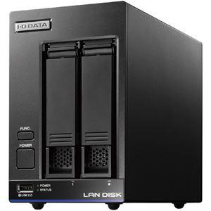 アイ・オー・データ機器 Trend Micro NAS Securityインストール済み 2ドライブ法人向けNAS 8TBライセンス3年