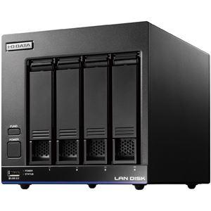 アイ・オー・データ機器 Trend Micro NAS Securityインストール済み 4ドライブ法人向けNAS 4TBライセンス3年