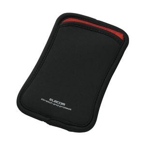 エレコム スマートフォン用スリップインネオプレンケース/Lサイズ/ブラック
