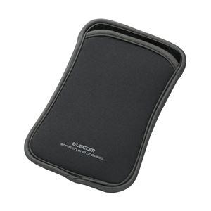 エレコム スマートフォン用スリップインネオプレンケース/Lサイズ/グレー