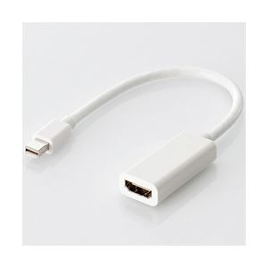 エレコム Mini DisplayPort-HDMI変換アダプタ/ホワイト/forMAC