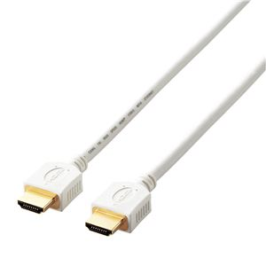 エレコム HDMIケーブル/PS4向/Ver1.4/イーサネット+3D映像対応/2.0m/ホワイト