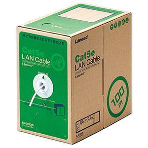エレコム RoHS対応LANケーブル/CAT5E/100m/ホワイト/簡易パッケージ