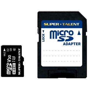 SUPERTALENTUHS-I高耐久3DMLCNAND採用microSDHCメモリーカード32GBClass10変換アダプタ付