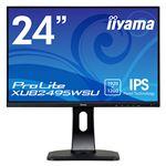 iiyama 24.1型ワイド液晶ディスプレイ ProLite XUB2495WSU(IPSパネル/WUXGA/DP/HDMI/D-Sub/USBハブ付/昇降/回転/スウィーベル) ブラック
