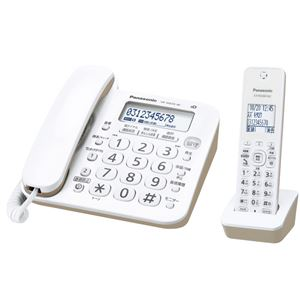パナソニック コードレス電話機(子機1台付き)(ホワイト)