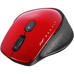 バッファロー(サプライ) 無線 BlueLED 5ボタン NEOFITマウス Mサイズ レッド
