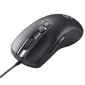 エレコム ゲーミングマウス/光学式/8000万回耐久スイッチ/6200dpi/5ボタン/有線/ブラック