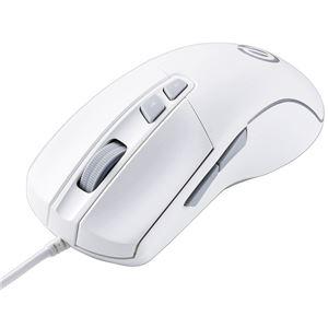 エレコム ゲーミングマウス/光学式/8000万回耐久スイッチ/6200dpi/5ボタン/有線/ホワイト