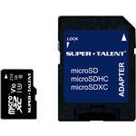 SUPERTALENT UHS-I microSDXCメモリーカード 256GB Class10SDXC変換アダプタ付