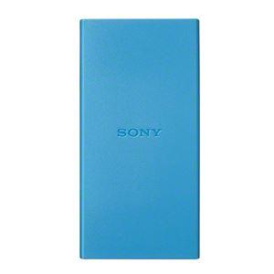 SONY 【PSE適合品】スマホ用モバイルバッテリー 入出力最大1.5Aスマホ約2回充電可能な5000mAhタイプ 約1000回繰り返し使用可 ブラックブルー