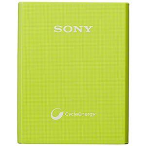 SONY 【PSE適合品】スマホ用モバイルバッテリー 手軽に持ち運べるコンパクトモデル表面加工で傷付きにくい軽量3400mAhタイプ 約1000回繰り返し使用可 グリーン
