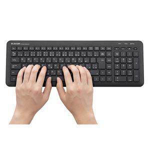 エレコム ワイヤレスコンパクトキーボード/Windows用/メンブレン式/ブラック
