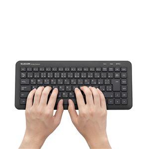 エレコム ワイヤレスミニキーボード/Windows用/メンブレン式/ブラック