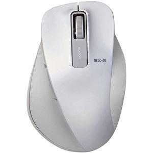 エレコム BlueLEDマウス/握りの極み/Mサイズ/無線/2.4GHz/5ボタン/ホワイト
