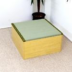 ユニット畳 収納 置き畳 高床式ユニット畳 半畳タイプ 畳ボックス 置き畳 い草 イ草 日本製 ナチュラル ロータイプ ナチュラル