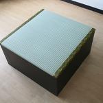 ユニット畳 収納 置き畳 高床式ユニット畳 半畳タイプ 畳ボックス 置き畳 い草 イ草 日本製 ナチュラル ロータイプ ダークブラウン