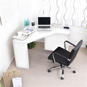 オフィスデスク パソコンデスク コーナーデスク 収納 木製 PCデスク パソコン机 ホワイト - 拡大画像