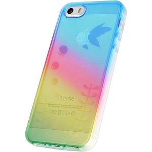 iPhone5/5S用TPUソフトケース 染ART