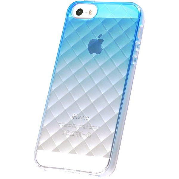 iPhone5/5S用TPUソフトケース 染 ダイヤモンドカット