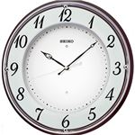(まとめ買い)セイコー ラ・ルック電波掛時計 木枠 KX372B 光沢仕上げ×2セット