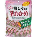 (まとめ買い)シャキシャキ茎わかめ 梅しそ味 ボーナスパック 126g×18セット