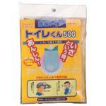(まとめ買い)携帯トイレ チカ21 逆流防止でスグに固まる トイレくん (500ml)×15セット