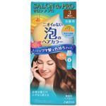 (まとめ買い)サロンドプロ ワンプッシュ泡のヘアカラー 明るいライトブラウン×4セット
