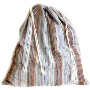 (まとめ買い)ブリーズブロンズ ランドリーバッグ マルチストライプ×2セット - 拡大画像