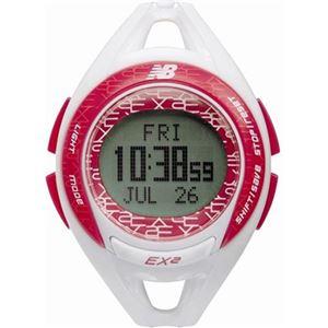 ニューバランス 腕時計 ランニングウォッチ EX2-903-004 ホワイト×ピンク - 拡大画像