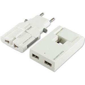 (まとめ買い)デバイスネット USB対応マルチ電源変換アダプター RW99WH-B ホワイト×2セット - 拡大画像