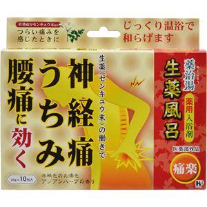 (まとめ買い)薬治湯 薬用入浴剤 生薬風呂 痛楽 25g×10包×2セット