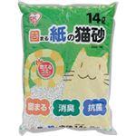 (まとめ買い)アイリスオーヤマ 固まる紙の猫砂 KKN-140 (14L)×16セット