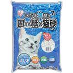 (まとめ買い)アイリスオーヤマ トイレに流せる固まる紙の猫砂 KNN-70 (7L)×9セット