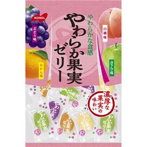 (まとめ買い)【ケース販売】ノーベル やわら果実ゼリー 230g×6袋×3セット