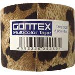 (まとめ買い)GONTEX Multicolor Tape GTRT018LPS ヒョウ柄 幅5cm×長さ5m 伸縮性ロールテープ×4セット