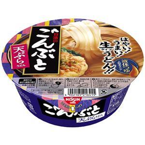 (まとめ買い)【ケース販売】日清のごんぶと 天ぷらうどん 217g×12個×3セット