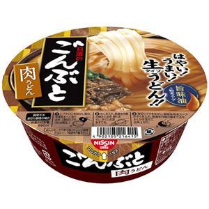 (まとめ買い)【ケース販売】日清のごんぶと 肉うどん 205g×12個×3セット