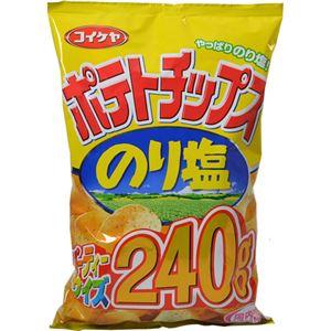 (まとめ買い)【ケース販売】コイケヤ ポテトチップス のり塩 パーティーサイズ 240g×6袋×3セット - 拡大画像