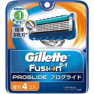 (まとめ買い)ジレット フュージョン プログライド マニュアル 替刃 4個入×4セット