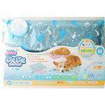 (まとめ買い)【数量限定】枕付きひえひえジェルマット 抗菌 M ブルー×2セット