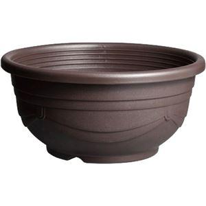 (まとめ買い)メダカ鉢 黒茶 11号×3セット - 拡大画像