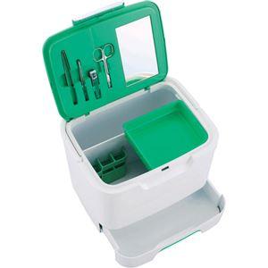 (まとめ買い)イモタニ 収納上手な救急箱(救急セット&ミラー付) AS-300×2セット