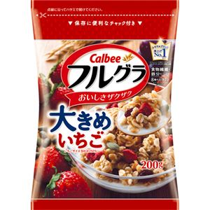 (まとめ買い)【ケース販売】フルーツグラノーラ フルグラ 大きめいちご 200g×10袋×3セット