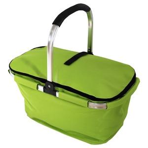 【マルチクーラーバスケット (M) 】保冷バッグ おしゃれ ランチバッグ 折りたたみ 買い物バッグ クーラーバスケット ピクニック エコバッグ ショッピングバスケット ライムグリーン(LGN-M) - 拡大画像