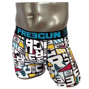 FREEGUN(フリーガン) ボクサーパンツ メンズ アンダーウェア インナー 男性下着 下着 メンズボクサーパンツ ギフト プレゼント 誕生日プレゼント FG28/TRI  840000 (01.ブラック Lサイズ)
