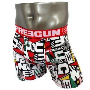 FREEGUN(フリーガン) ボクサーパンツ メンズ アンダーウェア インナー 男性下着 下着 メンズボクサーパンツ ギフト プレゼント 誕生日プレゼント FG28/TRI  840000 (02.レッド Lサイズ)