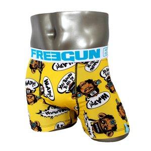 FREEGUN(フリーガン) ボクサーパンツ メンズ アンダーウェア インナー 男性下着 下着 メンズボクサーパンツ ギフト プレゼント 誕生日プレゼント 840006 FG28 BAN  (01.イエローサックス L)