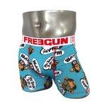 FREEGUN(フリーガン) ボクサーパンツ メンズ アンダーウェア インナー 男性下着 下着 メンズボクサーパンツ ギフト プレゼント 誕生日プレゼント 840006 FG28 BAN  (02.サックスレッド M)
